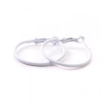 (太妃糖)Fine toffee simple white version of the small circle earrings