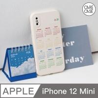 (CARECASE)CARECASE iPhone 12 mini mobile phone case 2021 rainbow calendar original mobile phone case beige