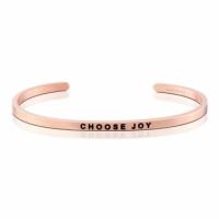 (MANTRABAND)MANTRABAND US private message CHOOSE JOY rose gold bracelet must be happy