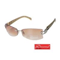 """(Docomo)[Docomo brand] metal frame design anti-UV400 lens leather feet """"with original glasses case"""""""