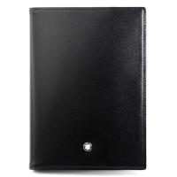 (montblanc)MONTBLANC Montblanc Meisterstuck Collection Classic Glossy Calf Passport Clip Black