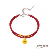 (LINE)J'code true love password LINE rabbit good happy gold red rope bracelet