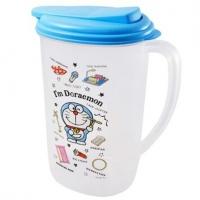 Small Auditorium Doraemon Japanese-made Transparent Plastic Cold Water Bottle Single Ear Teapot Drink Pot 1.9L (Blue Cover Props)