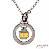 (Jcode)J'code true love password - true love zero distance pure gold + white steel male necklace