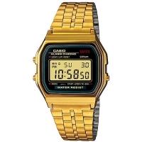 (CASIO)CASIO Vintage Gold Style Personalized Digital Watch (Black Frame)_A159WGEA-1D