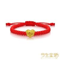 (今生金飾)This life gold jewelry rich flower blooms gold beaded bracelet