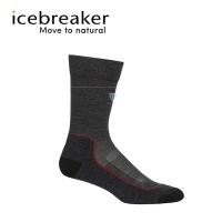 icebreaker IB105103 男 中筒薄毛圈健行襪-灰/紅