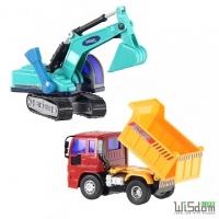 (WISDOM)WISDOM wheel powered car simulation series - gravel trucks excavation crew