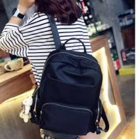 Metropolis Fashion Nylon Backpack - Black