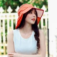 (Seoul Show)Seoul Show collapsible lightweight waterproof sunscreen orange hat