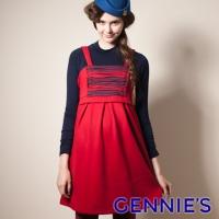 (Gennies)Gennies Chini bristles warm sweet autumn and winter vest dress - red (G2420)
