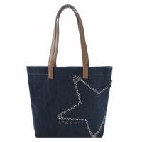 agnes b star studded cowboy tannins handbag (blue)