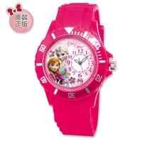 (Disney)Disney Ice Romance Anna and Aisha Stick Drill Sports Silicone Watch