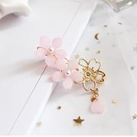 (Charme)Charme Japanese and wind draping cherry petals imitation bead shape clip (three)