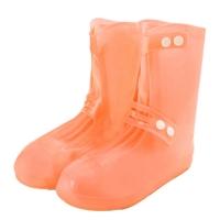 Breasted high tube non-slip wear-resistant rain boots cover-sunshine orange (gift magic invisible elastic belt)
