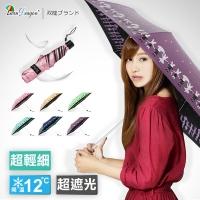 (Twin Dragon)[Shuanglong Brand] is super light and thin. Umbrella rabbit color plastic sunscreen cooling rain umbrella folding umbrella B8010R