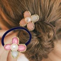 (charme)Charme Acrylic Four Leaf Clover Korean pop hit color hair ring