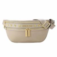 MICHAEL KORS KENLY Nylon Studded Waist Bag - Medium / Cement Grey