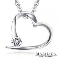 (Majalica)Majalica Perfect Crystal Diamond Sterling Silver Necklace PN5082