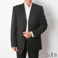 [Ee Men] V-neck pocket red straight side slit blazer - black