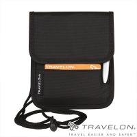 (TRAVELON)[Travelon US anti-theft bag] RFID BLOCKING neck-mounted anti-theft wallet (TL-42764 black / travel / carry-on bag)