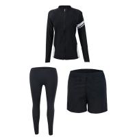 Biki Bikini Bikini Swimsuit, Long Sleeve Three-Piece Couple Surfer Boys Swimwear (M-XL)