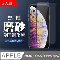IPHONE XS MAX 11PMAX Anti-Fingerprint Black Frame Protector 2pcs