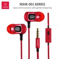 XUNDD News Di metal ear shell heavy bass heavy barrel in-ear headphones (red)