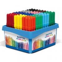 (【義大利GIOTTO】可洗式兒童安全彩色筆(12色108支)附分色筆座)[Italian] GIOTTO child safety washable color pen (12 color 108) attached separations Pen Holder