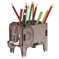 (WERKHAUS)[WERKHAUS] Animal Fun Stationery Storage Box - Elephant
