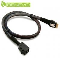BENEVO internal type 50cm Slim SAS 4.0 SFF-8654 to Mini SAS HD SFF-864