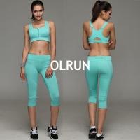 (OLRUN)【OLRUN】Fitness, Yoga, Jogging, Leisure, Cross Back, Medium Intensity Sports Underwear, Black