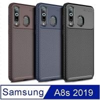 SAMSUNG Galaxy A8s anti-fall carbon fiber mobile phone case protective case