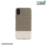 (Man&wood)Man&Wood iPhone XS / X Classic Log Shaped Protective Case-Einstein EINSTEIN