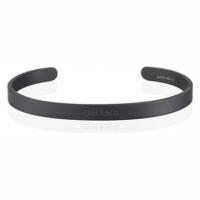 (MANTRABAND)MANTRABAND OHANA family life and support Wide matte black bracelet Mens Hawaiian version