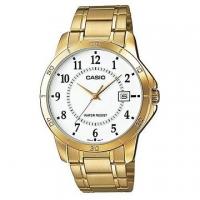 CASIO urban gentleman fashion trend gold watch digital pointer MTP-V004G-7B