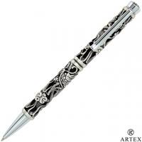 [TAITRA] ARTEX Oriental Lucky Dragon Ball Pen Ancient Silver
