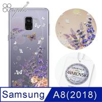 apbs Samsung Galaxy A8 2018 Swarovski diamond mobile phone shell shock double - Provence