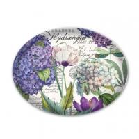 (Michel Design Works)[Michelle] colorful hydrangeas glass soap dish