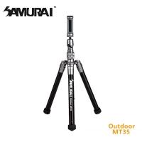 SAMURAI Outdoor MT35 reflexed aluminum tripod (attached selfie bar)