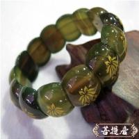 (菩提居)[UN] Bodhi gilt lotus wishful natural green agate bracelet (female Lucky Vanves preferred)