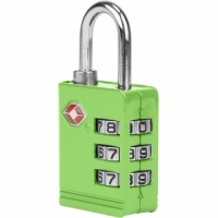 TRAVELON TSA three yards anti-theft lock (green)