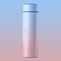 Smart LED temperature display thermos 500ml-blue powder