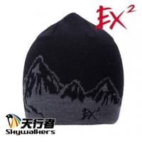 (EX2)EX2 knitting round hat (black)