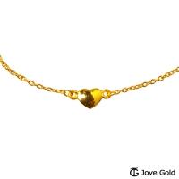 (Jove Gold)Jove Gold Gold Heart Sweet Gold Bracelet