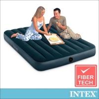 (intex)INTEX Classic Double Air Mattress (Green Velvet)-Width 137cm (64108)