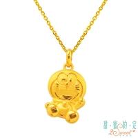 "(Doraemon)""Doraemon"" charm Doraemon 9999 pure gold pendant"