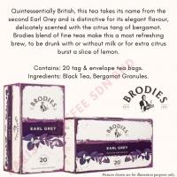 Brodies Tea, Earl Grey Tea 20-Count Tea Bag