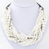 (Gina&Chia)Gina & Chia temperament Korean fashion flash diamond pearl necklace