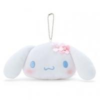 "Big ear dog big face shape fluff pendant coin purse ""blue and white"" pendant storage bag"